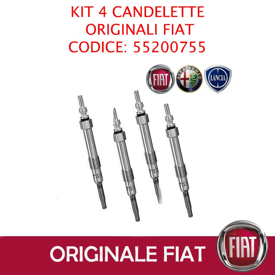 55200755 KIT 4 CANDELETTE ORIGINALI FIAT 500L 1.6 D MULTIJET